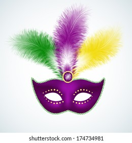 Mardi Gras mask isolated on white