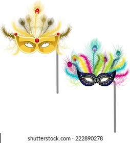 mardi gras masks illustrations