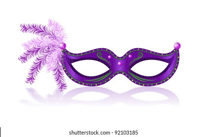 Mardi Gras purple mask