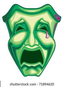 Mardi Gras Tragedy Mask