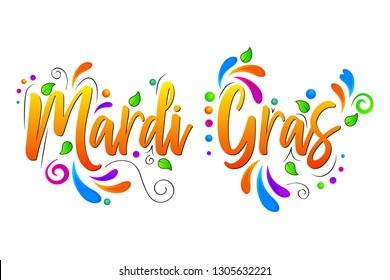Mardi Gras vector isolated illustration on white background