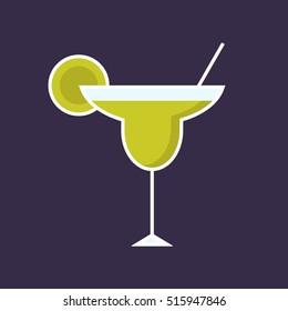 Margarita cocktail. Vector illustration