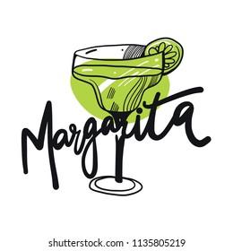 Margarita. Vector illustration. Isolated on white background. EPS8