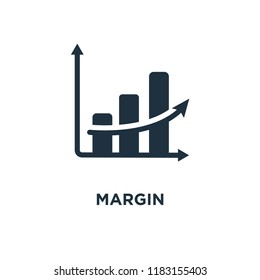 Margin icon. Black filled vector illustration. Margin symbol on white background. Can be used in web and mobile.