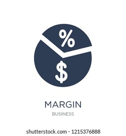 Margin icon. Trendy flat vector Margin icon on white background from Business collection, vector illustration can be use for web and mobile, eps10