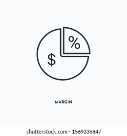 Margin outline icon. Simple linear element illustration. Isolated line Margin icon on white background. Thin stroke sign can be used for web, mobile and UI.