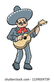 mariachi man singing and playing a guitar
