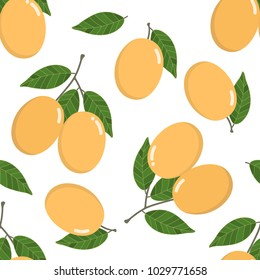 Marian Plum seamless pattern and vector.