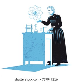 Marie Curie vector illustration