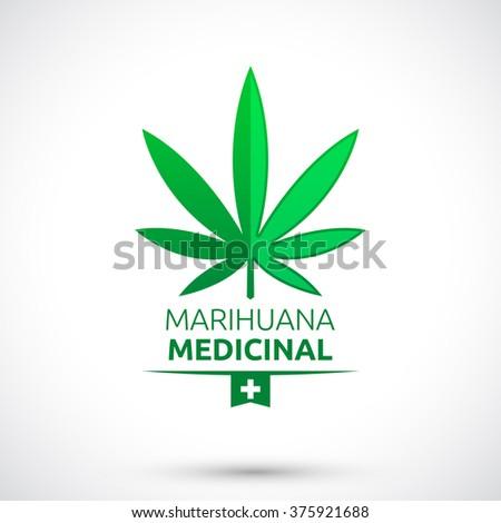 Marihuana Medicinal Medical Marijuana Spanish Text Stock Vector