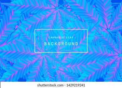 Marijuana blur leaf label. and cannabis logo on leaves background . Graphic vector Illustrator.