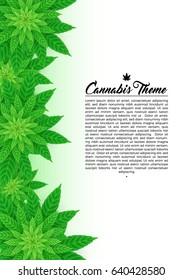Marijuana Cannabis 420 Flyer Poster Template Layout Vector Art Design Illustration