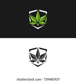 marijuana or cannabis leaf designed in graphic vector format.