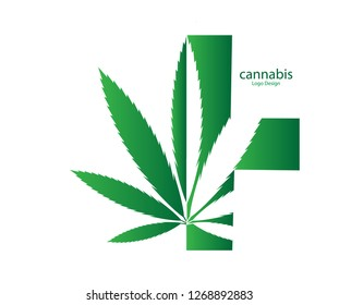 Marijuana, cannabis leaf logo, Formal medicine labels.