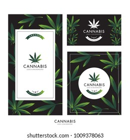marijuana , cannabis logo graphics