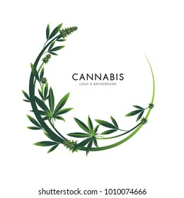 marijuana, cannabis logo graphics