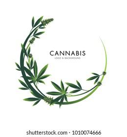 marijuana, cannabis logo graphics
