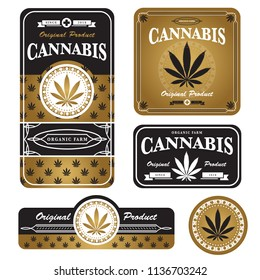 marijuana , cannabis template and packaging design
