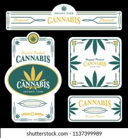 marijuana , cannabis template and packaging design