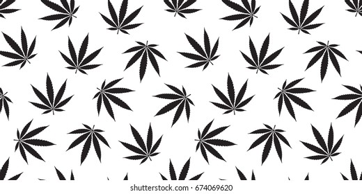 Marijuana cannabis weed leaf Seamless Pattern wallpaper background