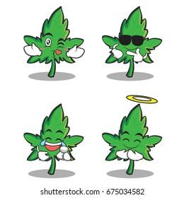 marijuana character cartoon set collection