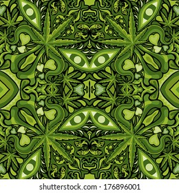 Marijuana face character pattern vector illustration