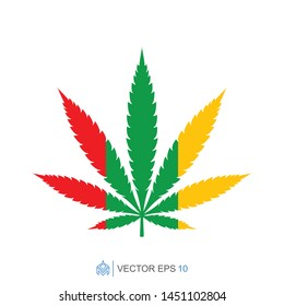 marijuana flat template icon, cannabis vector element