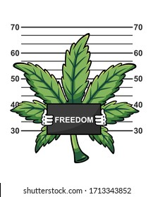 Marijuana freedom character vector art