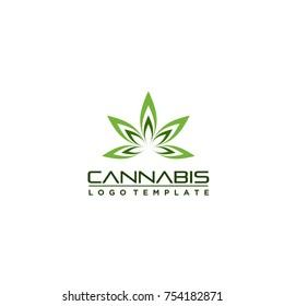 marijuana glow logo template