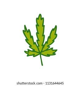 marijuana leaf doodle icon