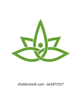 Marijuana Leaf Figure Logo