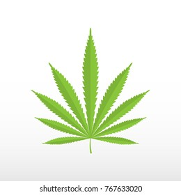Marijuana leaf icon.