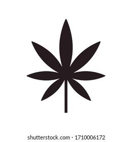 marijuana leaf icon vector illustration logo template
