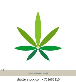 Marijuana Leaf Logo Template