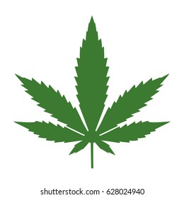 Marijuana leaf. Medical cannabis.