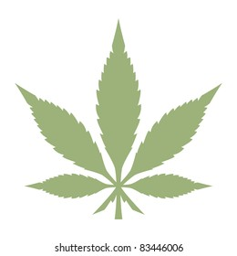 Marijuana Pot Leaf Cannabis Vector Graphic Silhouette