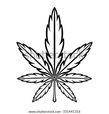 Marijuana Pot Weed Leaf Symbol Stock Vector Royalty Free 331441316