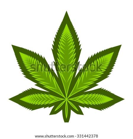 Marijuana Pot Weed Leaf Symbol Stock Vector Royalty Free 331442378