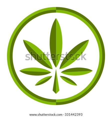 Marijuana Pot Weed Leaf Symbol Stock Vector Royalty Free 331442393