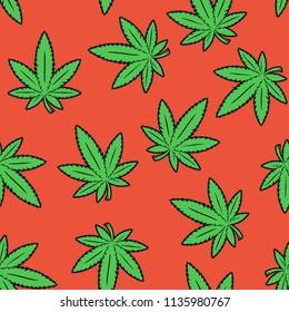Marijuana Seamless Pattern