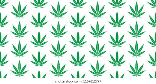 Marijuana seamless pattern Weed vector cannabis leaf scarf isolated repeat wallpaper tile background
