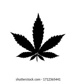 Marijuana vector cannabis leaf weed icon logo symbol sign illustration graphic.