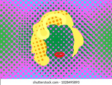 Marilyn Monroe vector portrait , Pop Art Style Andy Warhol