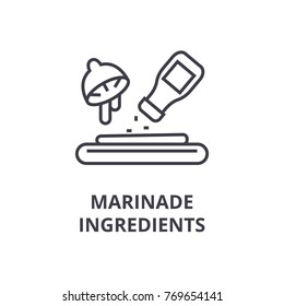 marinade ingredients line icon, outline sign, linear symbol, vector, flat illustration