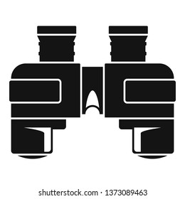 Marine binocular icon. Simple illustration of marine binocular vector icon for web design isolated on white background