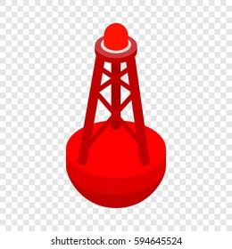 Marine buoy isometric icon 3d on a transparent background vector illustration