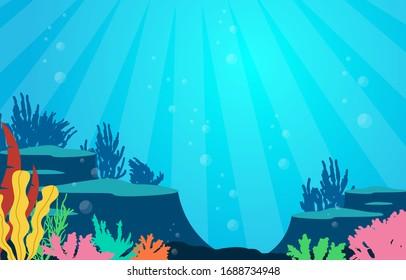 Meereskorallenriff Unterwassermeer-Naturillustration