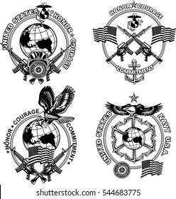 graphic regarding Printable Marine Corps Emblem referred to as Maritime Corps Shots, Inventory Photographs Vectors Shutterstock