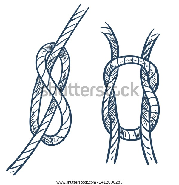 Marine Equipment Rope Knot Ship Safety Stock Vector (Royalty