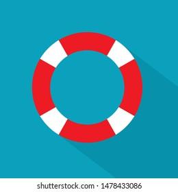 marine lifebuoy icon- vector illustration